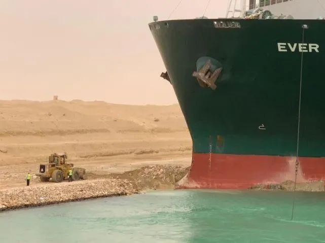 """货船在苏伊士运河搁浅 """"卫生纸之乱""""或重演?图片"""