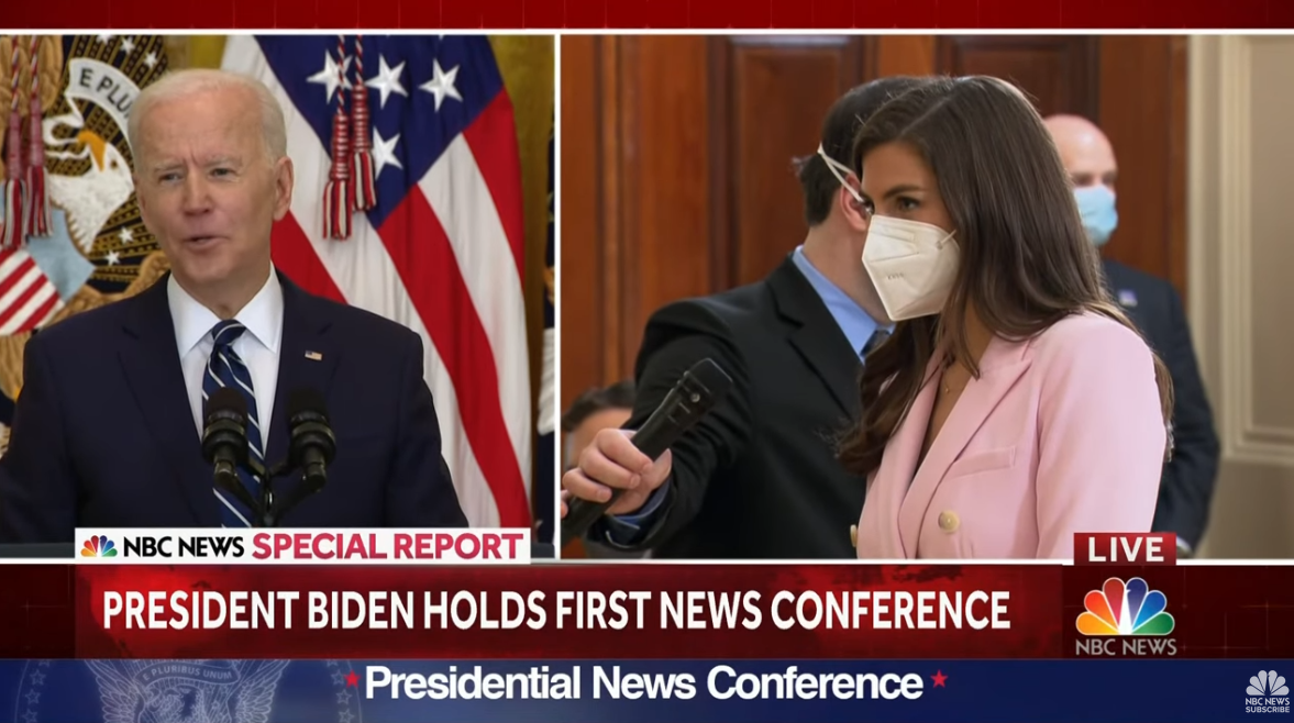 拜登首场记者会,无人提问疫情话题