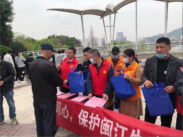 直属三大队联合洪山镇开展闽江禁渔宣传