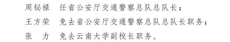 云南省人民政府发布一批任免职通知,涉及12名干部图片