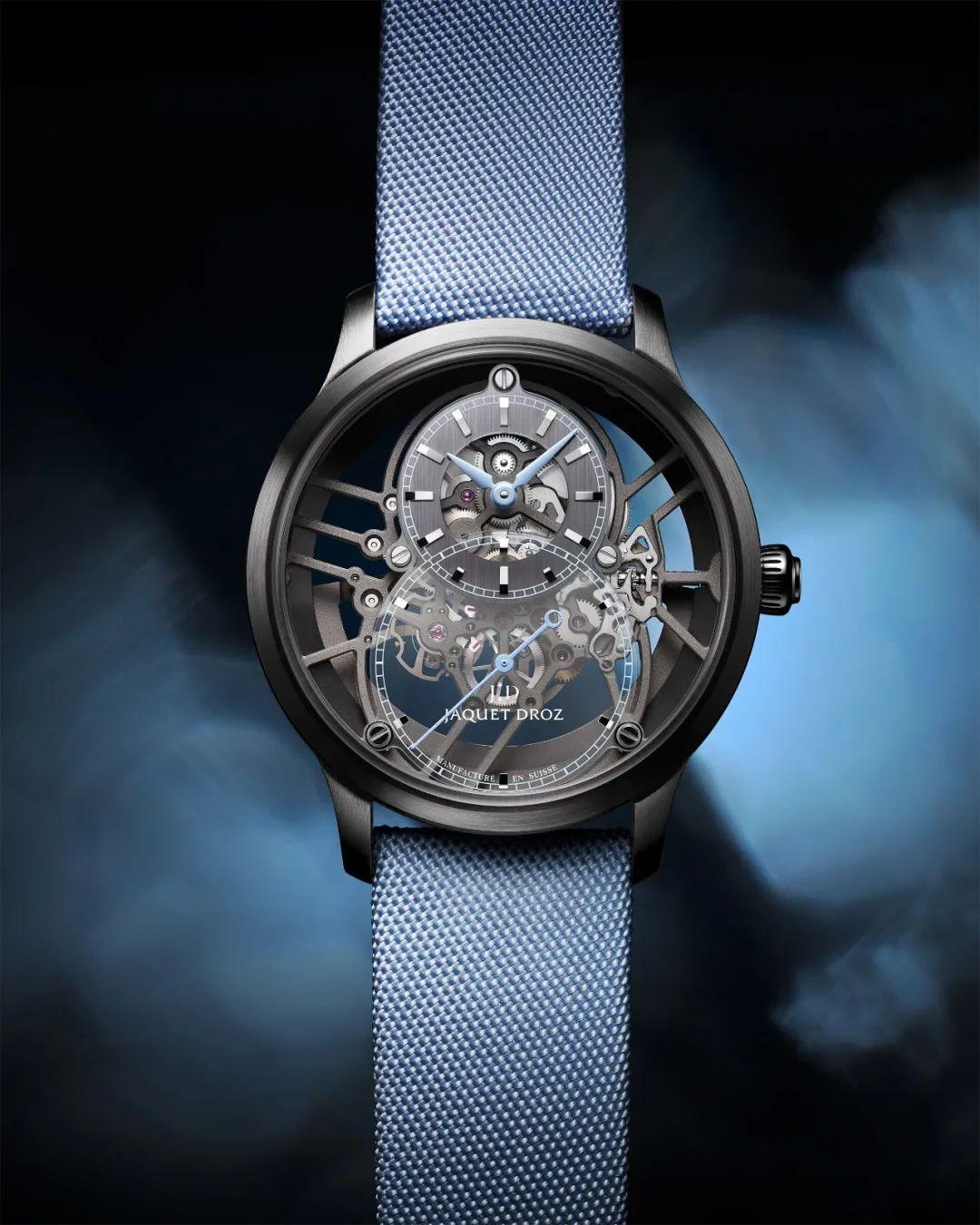 雅克德罗发布三款全新大秒针镂空腕表