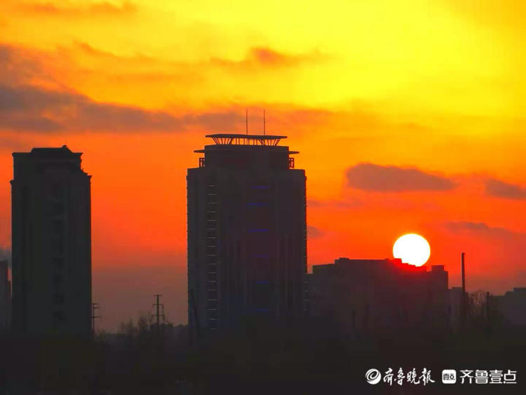 雪后,华山又见夕阳红