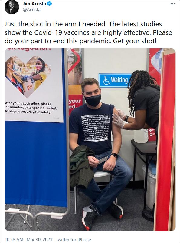 CNN记者打疫苗被T恤抢了镜,网友:美国地狱般的一年