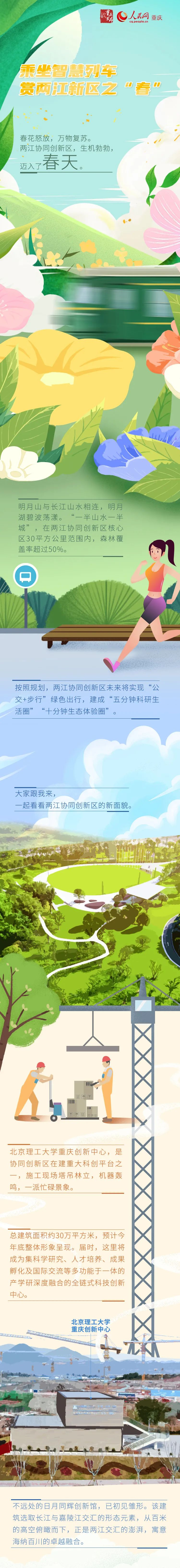 乘坐智慧列车,赏两江协同创新区新春色图片