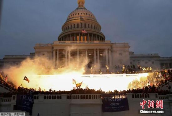 情报称极端分子4日或冲击美国会大厦