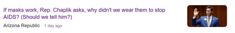 美议员:艾滋病流行时都没戴口罩 为啥防新冠要戴?图片