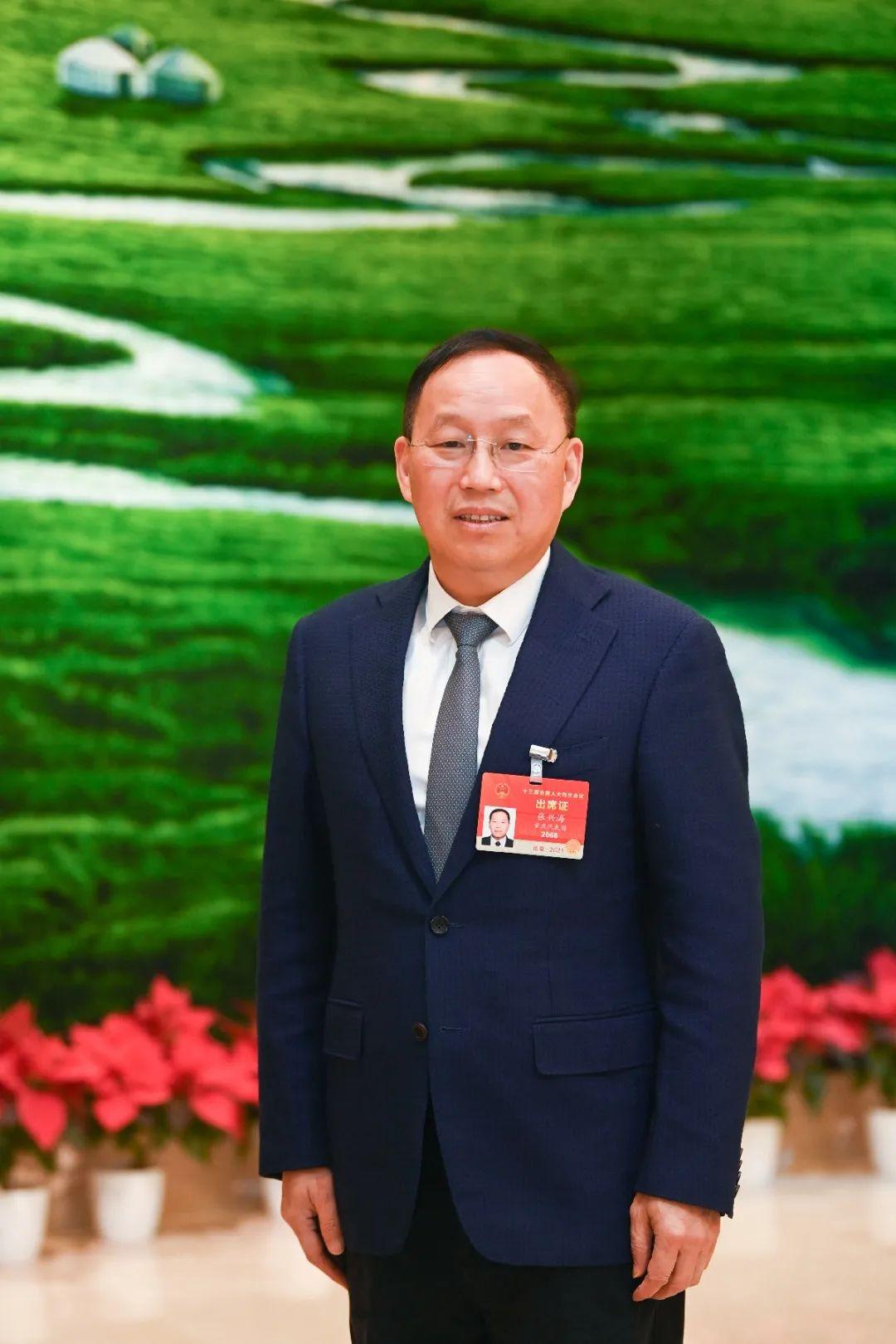 张兴海代表:建议加大补贴力度 在农村推广使用新能源汽车图片