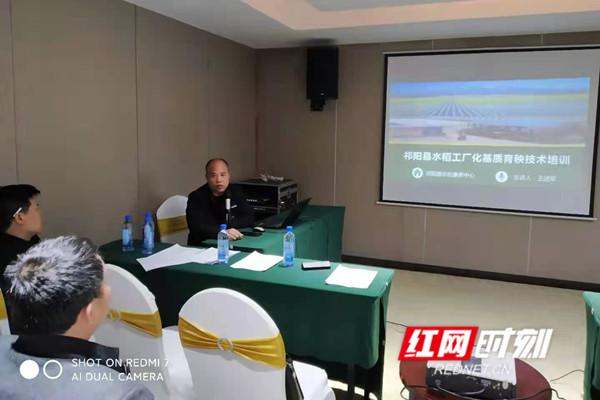 """祁阳举办""""水稻工厂基质育秧""""技术培训班"""