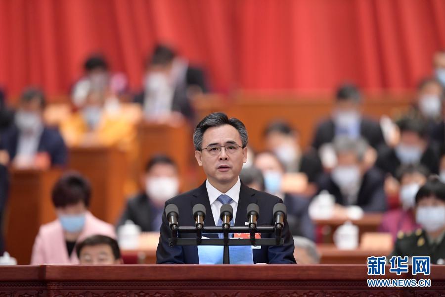3月7日,全國政協十三屆四次會議在北京人民大會堂舉行第二次全體會議。這是黃建盛委員作大會發言。新華社記者 李賀 攝