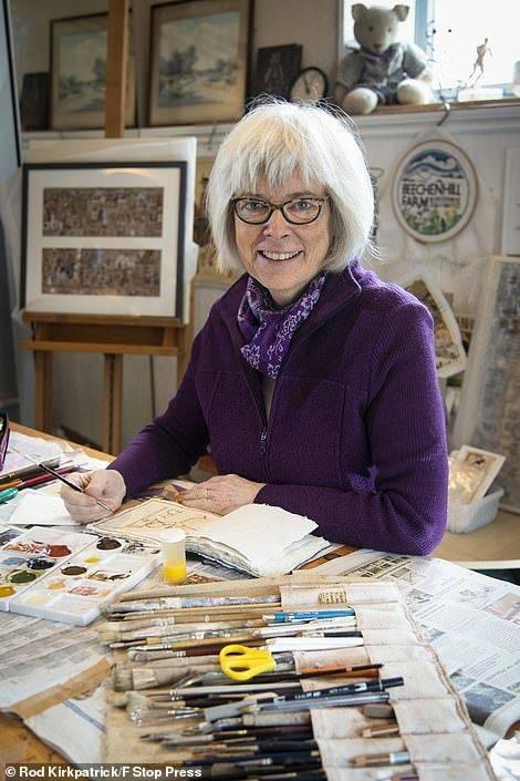 180幅插画记录隔离生活 60岁插画师用绘画治愈内心