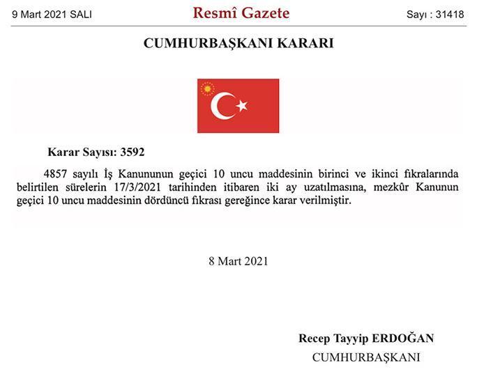 土耳其禁止裁员令再度延长两个月 出台以来已数次延长