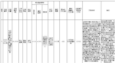 江西省九江市自然资源局经开区分局国有建设用地使用权网上挂牌出让公告