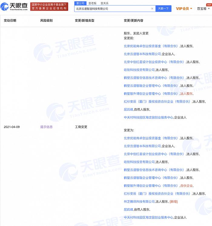 腾讯关联公司入股仿真平台研发商云道智造,持股比例6%