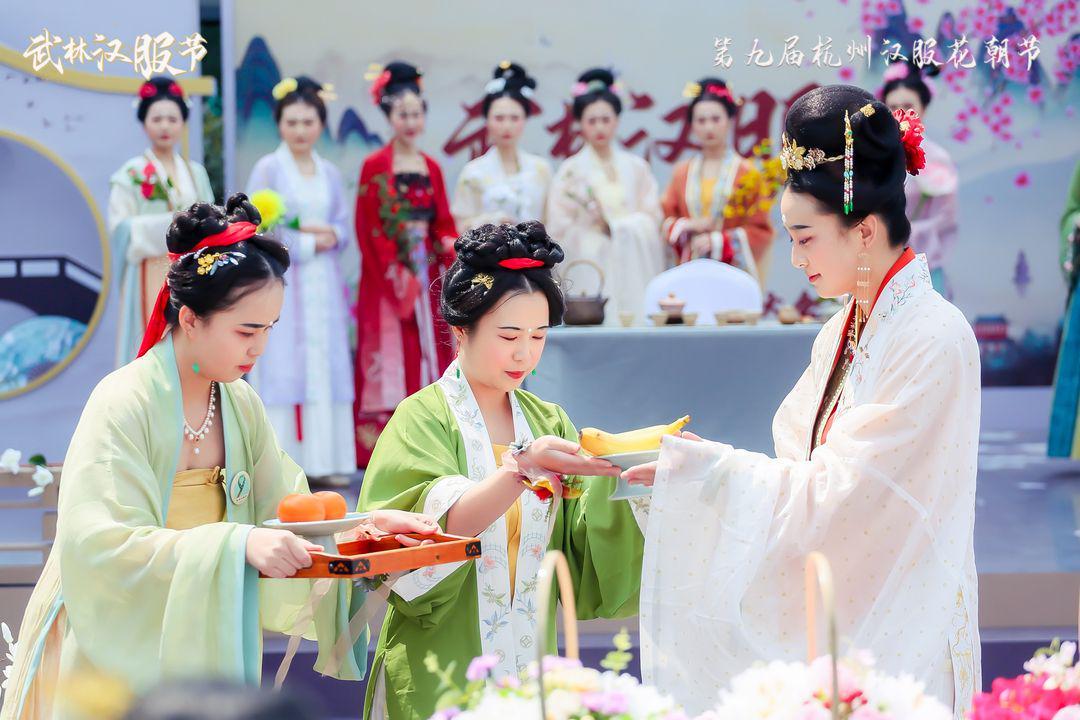 弘扬中国传统文化武林银泰汉服节千人同袍