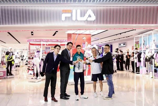 FILA在济南潮流地标恒隆广场揭幕全新品牌中心店