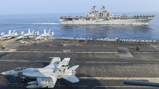"""美海军""""罗斯福""""号航母已离开南海,驶向菲律宾海岸"""