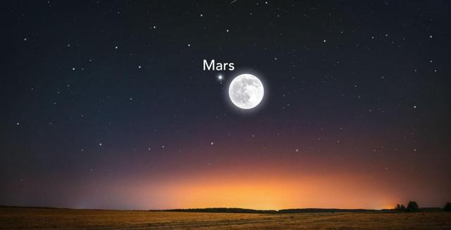 定好闹钟,本周末晚,云南海南等地可见月亮遮挡火星天文奇观