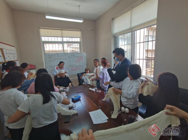 未雨绸缪……昆明三合营社区培训应急救护