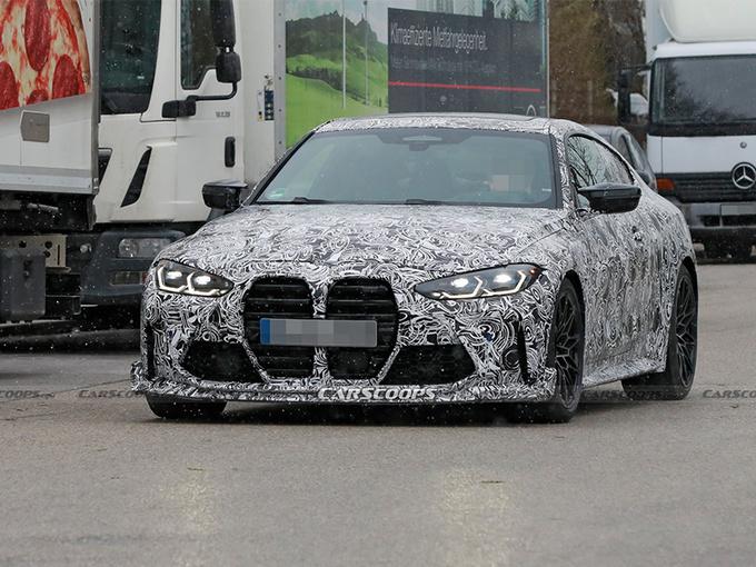 宝马M4新车型路试谍照!搭4.4T V8引擎,重量更轻,性能大幅提升