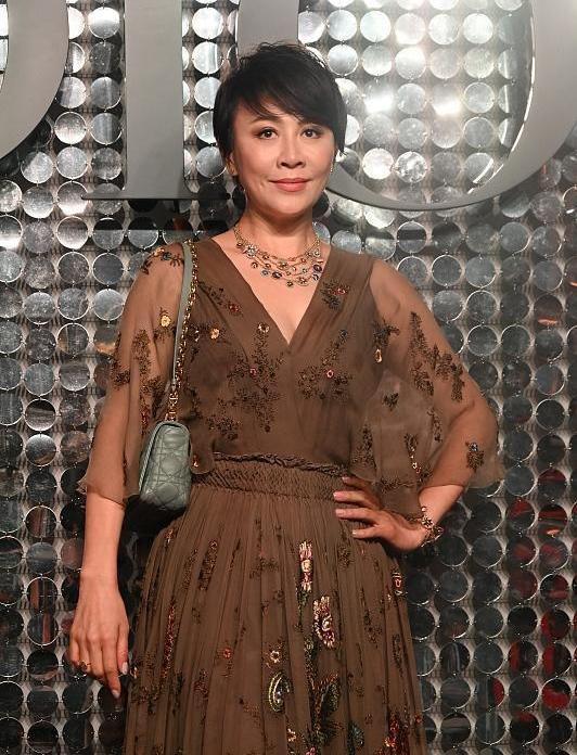 刘嘉玲穿刺绣纱裙装阿姨,不修图分明就是老太婆了,身材还干瘪!