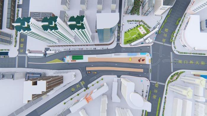 地铁7号线站点近期施工 海光寺路口通行方式也将调整
