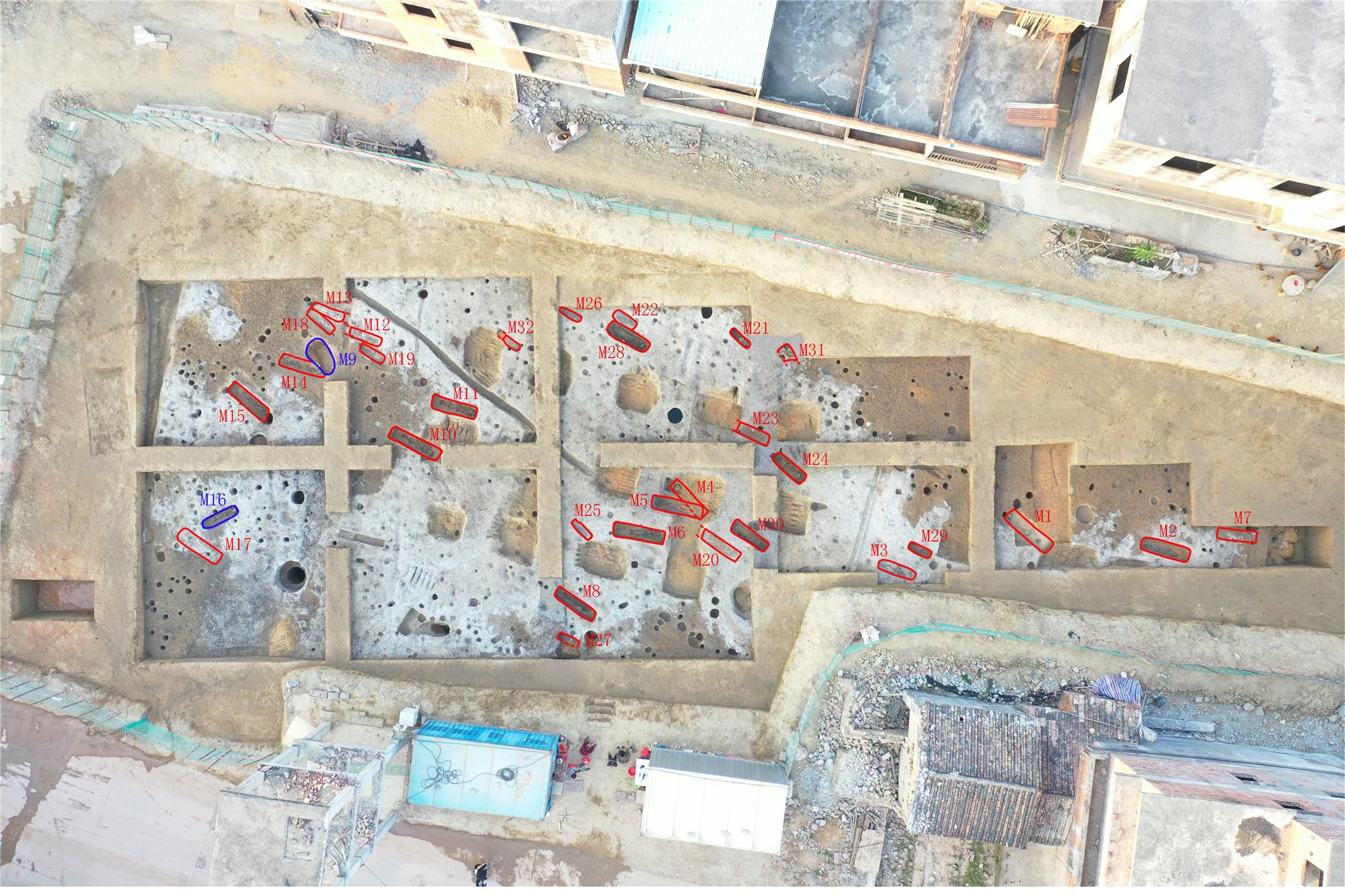 【视频】广州金兰寺遗址出土古人类遗骸增至34具,其中包含小孩遗骸