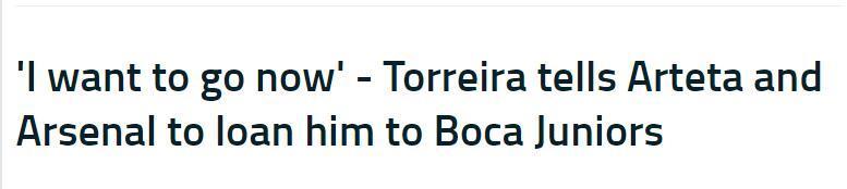 托雷拉:我现在就想去博卡,他们应谈妥1年租借