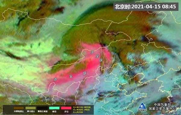 卫星之眼看沙尘:沙尘开始影响我国内蒙古中西部