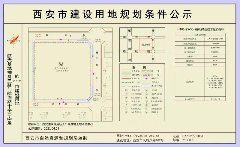 4月13日航天基地公示5宗建设用地 含两宗108亩居住用地