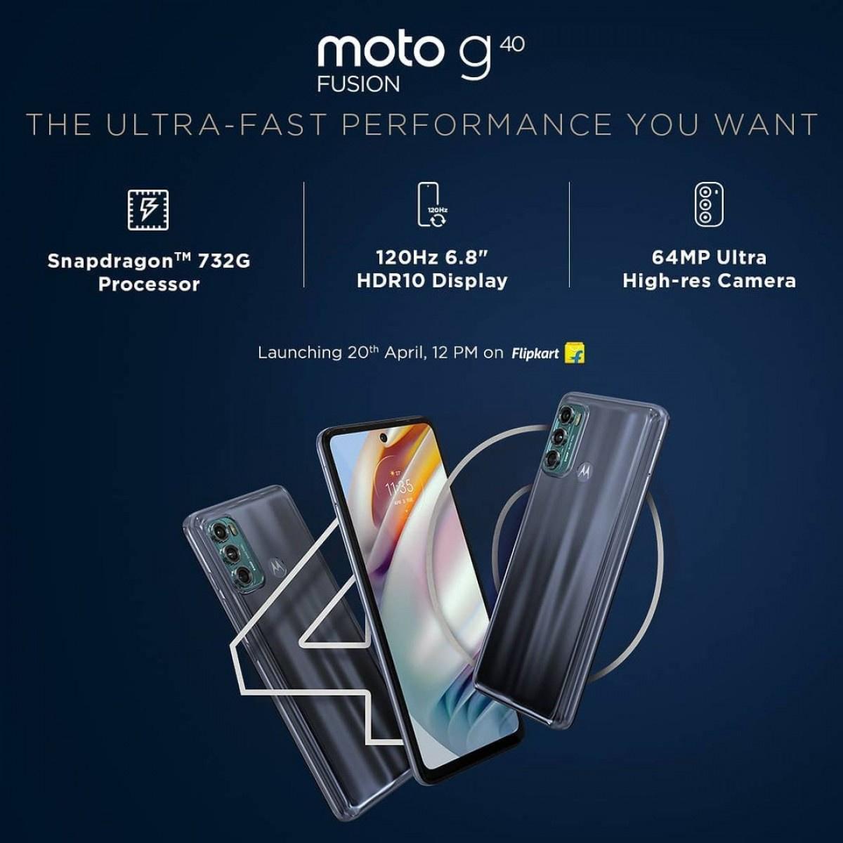 摩托罗拉 G60/G40 参数曝光:骁龙 732G 处理器,120Hz 高刷屏
