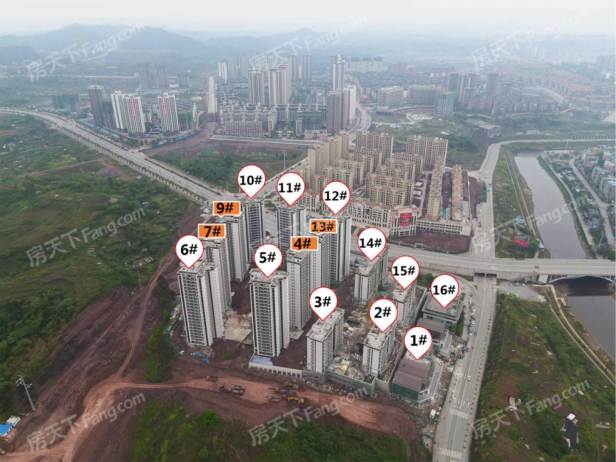 大家关心的,枣山园区这些在建楼盘最新工程进度来了!