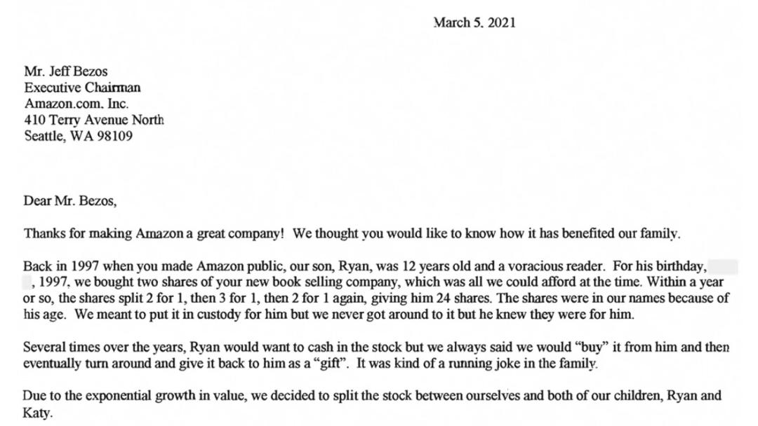 贝佐斯最后一封股东信:现在仍然是第一天(Day 1)