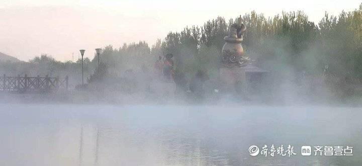 今晨莱芜孝义河雾气迷漫,如临仙境
