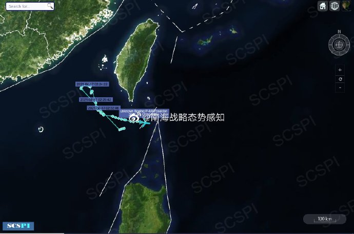 美军P-8A反潜巡逻机接连在台湾海峡南部高强度活动