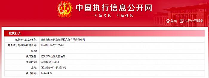 黄渤、管浒(管虎)持股公司再成被执行人,执行标的超1442万