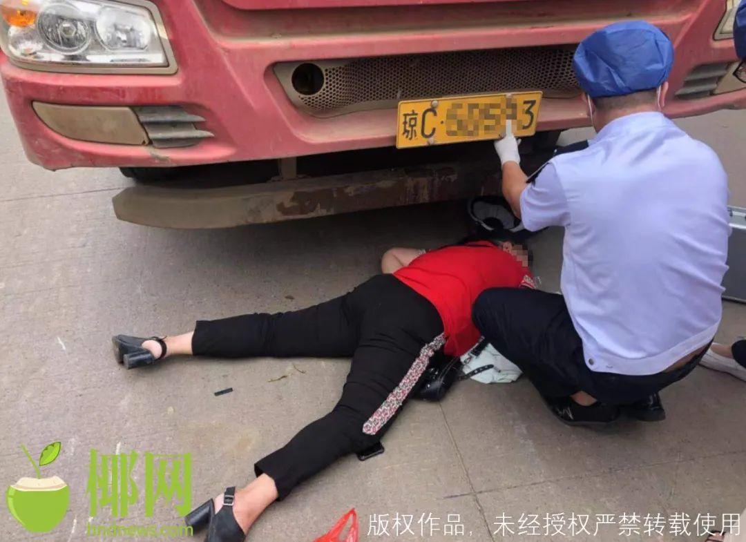 事发海口!大货车与电动车发生碰撞,一女子受伤…