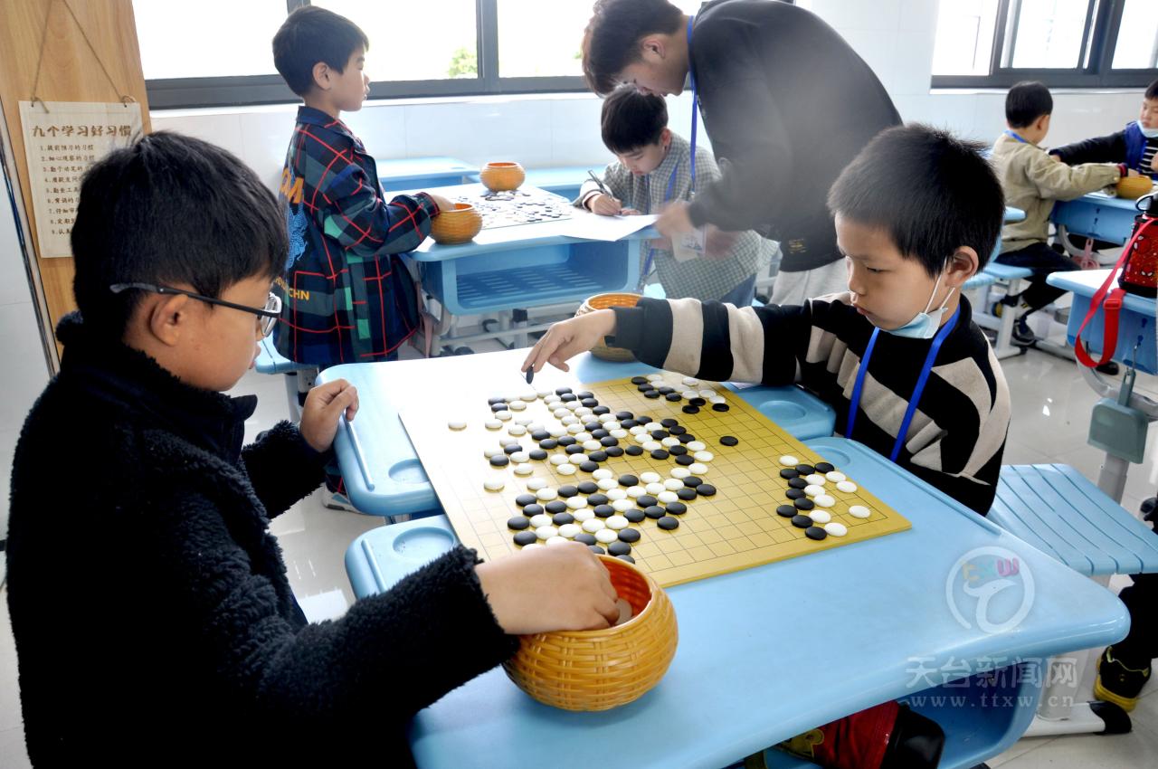 玩转黑白世界 延续文化根脉 天台县举行春季少年儿童围棋段级位赛