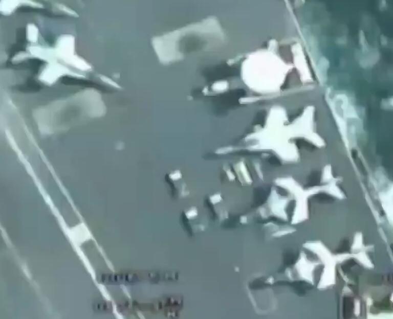 伊朗发无人机过顶美军航母视频 美军:旧的