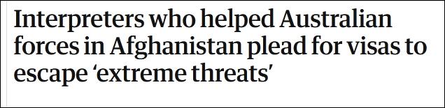这些给驻阿富汗澳军做过翻译的人,现在很慌