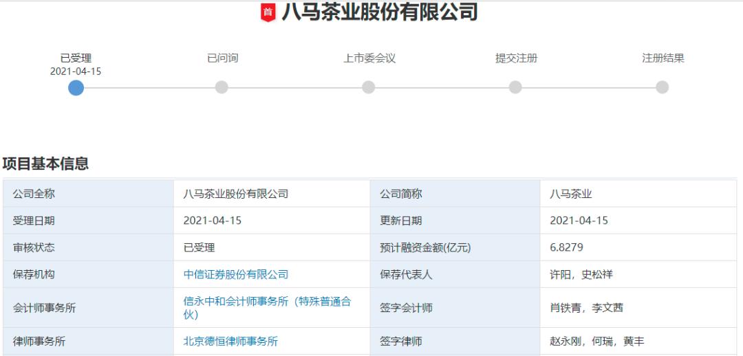 """972家排队A股IPO!八马茶业加入争夺""""茶叶第一股""""(附最新IPO排队名单)"""