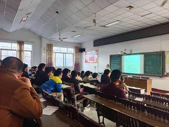 湖南省洞口县竹市镇中学开展2021年上学期教学比武活动