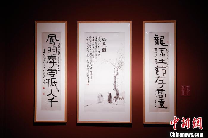 书法大家沈鹏作品展亮相中国美术馆1号厅