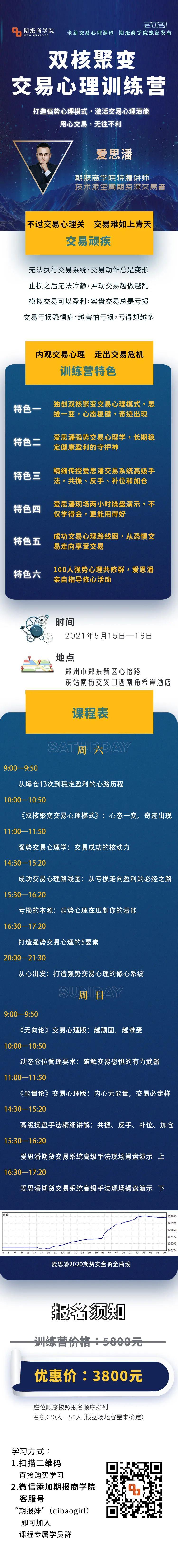 5月,相约郑州,体验真正的交易心理训练营