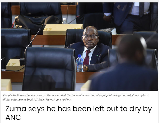 南非前总统祖马:不会屈服于政治迫害