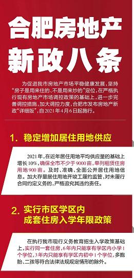 合肥楼市新八条发布,9个问题解答,2021你还有购房资格吗?