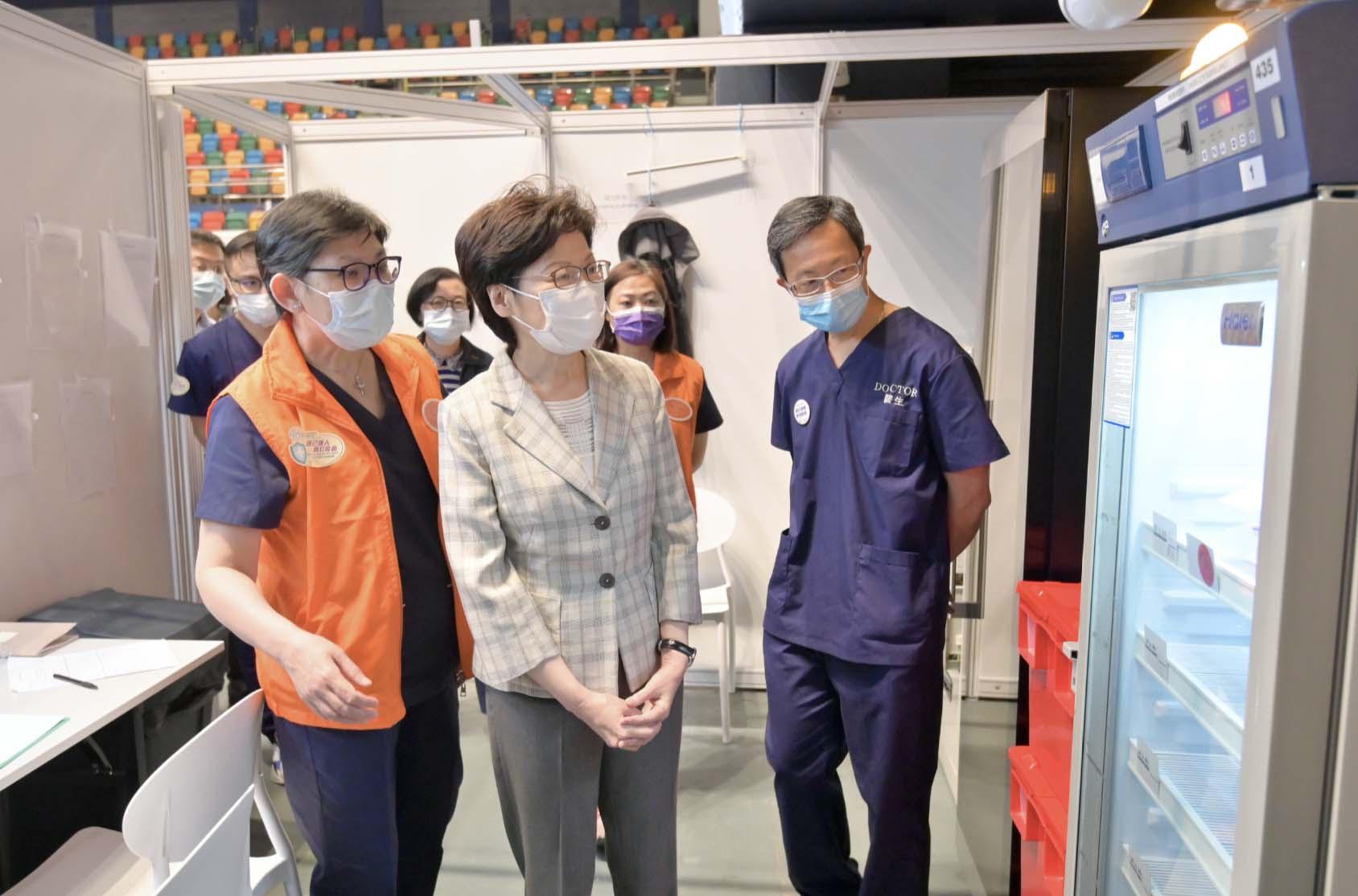 香港疫苗供应充足 林郑月娥呼吁市民尽快预约接种