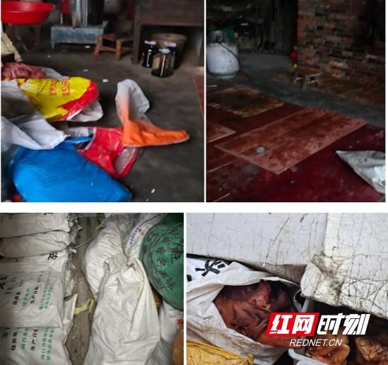 桃江县市场监管局端掉一家熏腊制品黑作坊