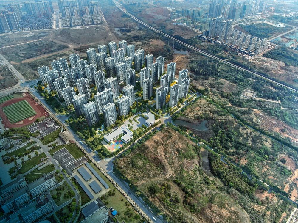 新品入市 | 平安理想城效果图曝光 42栋高层 容积率达3.1