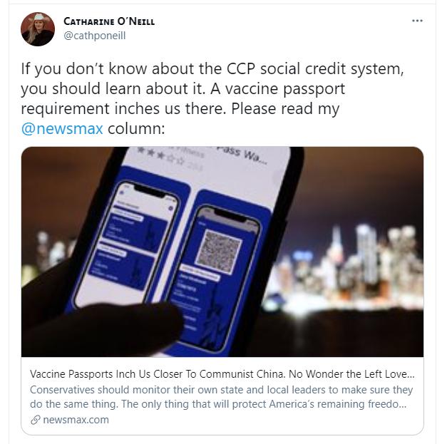 """美政客宣称""""疫苗接种护照""""只在""""共产主义中国""""才会出现,被打脸了……"""