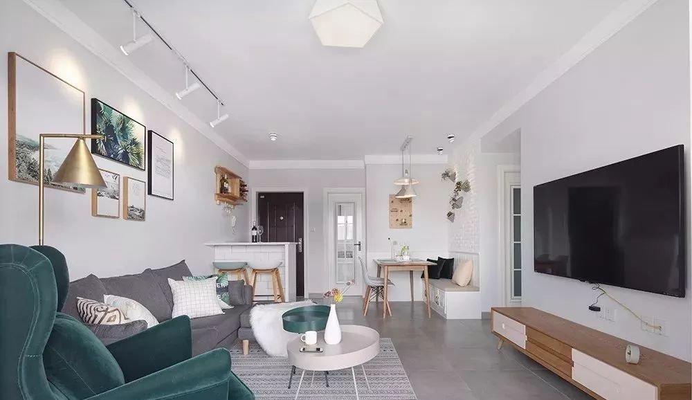 【装修案例】80平北欧二居室,宽敞明亮,优雅朴素又富有层次感~